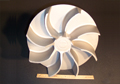 "15lb. 18"" Air-Moving Impeller Cast in 319 Aluminum"